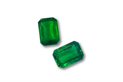 Emerald Emeraldcut Pair 4.38 cts