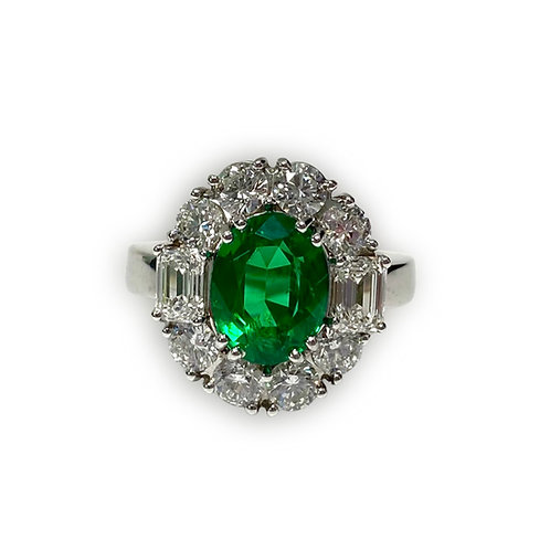 Emerald Oval Ring 3.15 cts