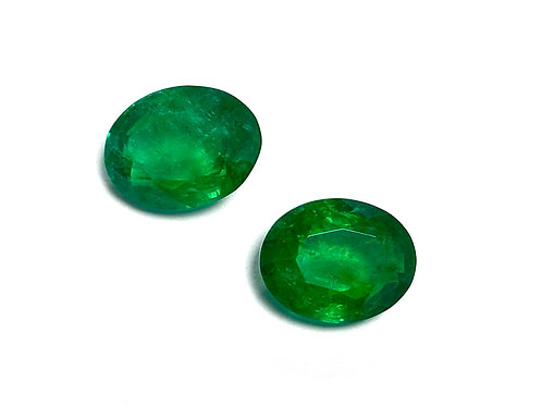 Emerald Oval Pair 16.65 cts