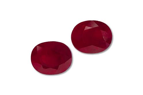 Burma Ruby Oval Pair 8.06 cts