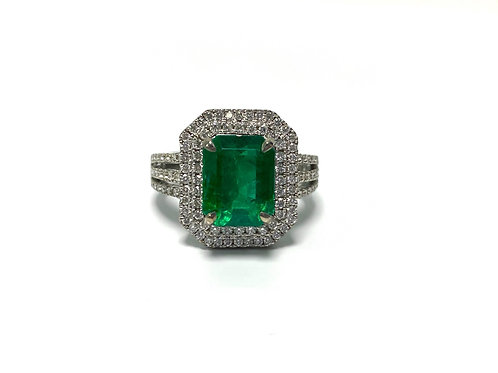 Emerald Emeraldcut Ring 2.90 cts