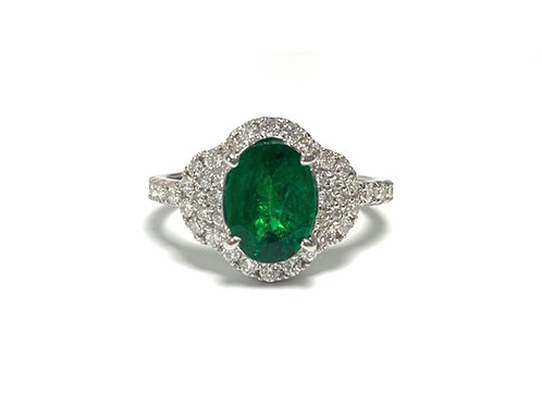 Emerald Oval Ring 1.43 cts