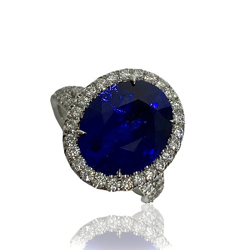 Sapphire Oval Ring 7.13 cts