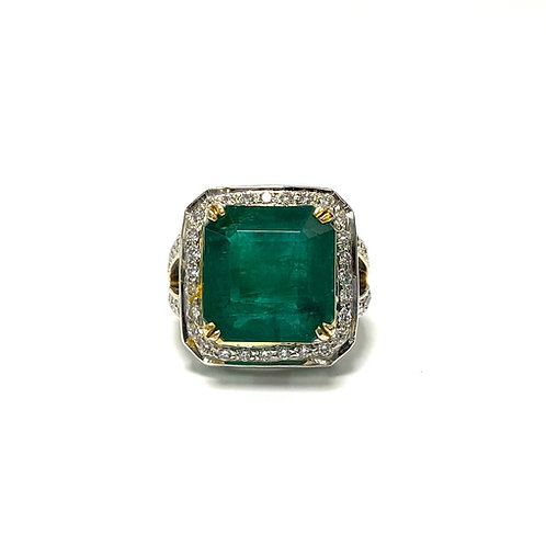 Emerald Emeraldcut Ring 15.00 CT