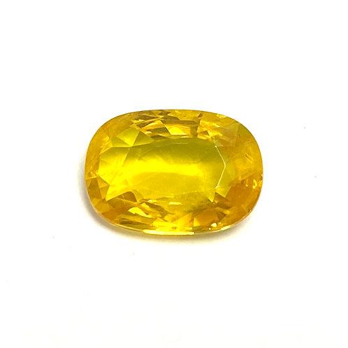 Yellow Sapphire Cushion 5.07 Cts