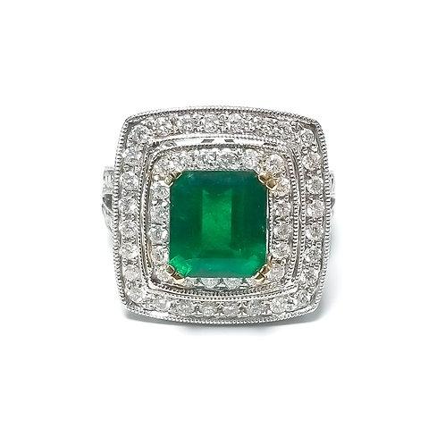 Emerald Emeraldcut Ring 3.20 cts