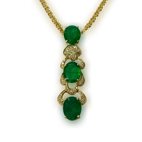 Emerald Necklace 9.51 cts