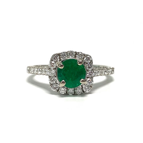 Emerald Round 0.88 cts