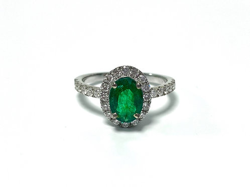 Emerald Oval Ring 0.98 cts