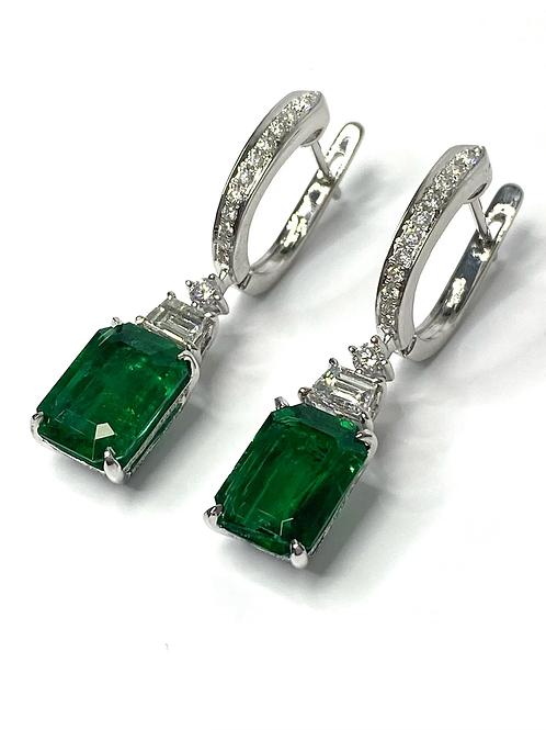 Emerald Earrings 4.93 Cts