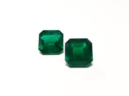 Emerald Emeraldcut Pair 20.50 cts