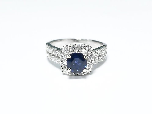 Sapphire Oval Ring 0.94 cts