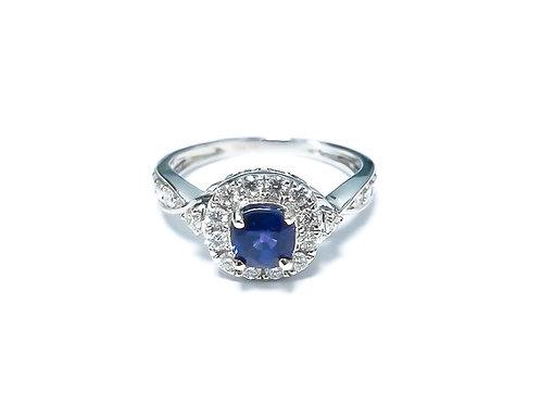 Ceylon Sapphire Cushion Ring 0.70 cts