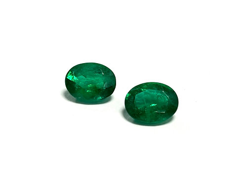 Emerald Oval Pair 9.34 cts