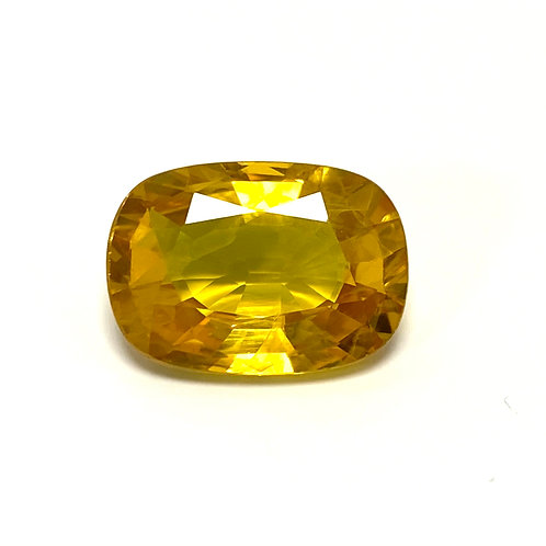 Yellow Sapphire Cushion 7.76 Cts