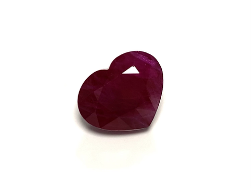 Ruby Heart 4.45 Cts