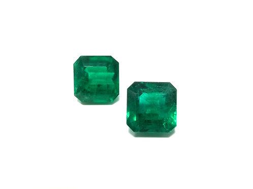 Emerald Emeraldcut Pair 12.41 cts