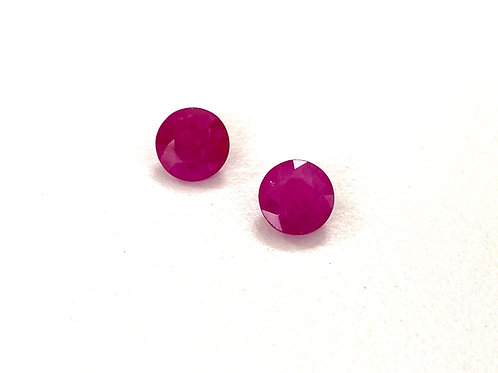 Ruby Round Pair Approx. 2.50 cts