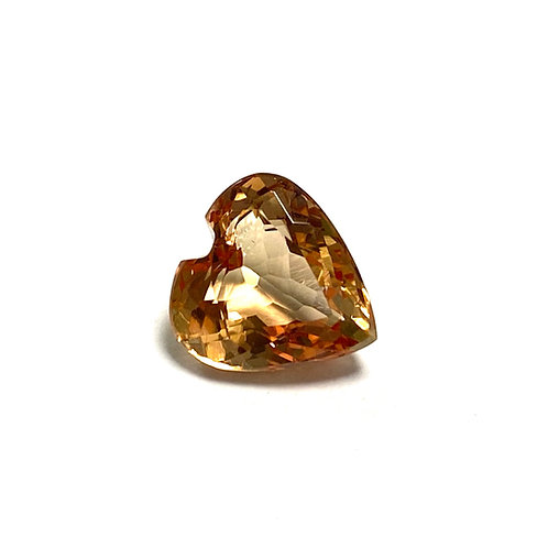 Imperial Topaz Heart 3.40 cts