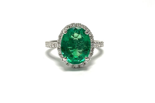 Emerald Oval Ring 3.24 cts