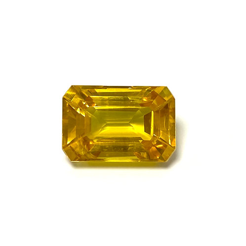 Yellow Sapphire Emeraldcut 5.63 Cts