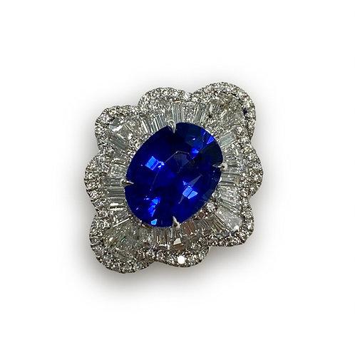 Ceylon Sapphire Oval Ring 4.04 cts