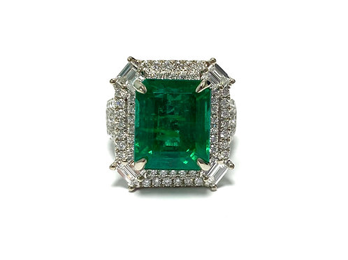 Emerald Emeraldcut Ring 7.60 cts