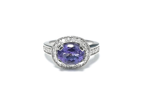 Tanzanite Oval Ring 2.1 cts