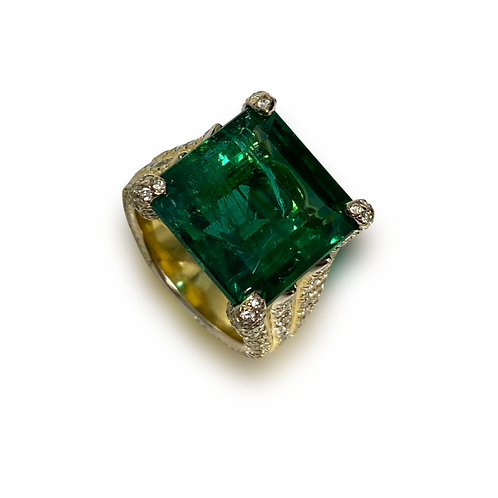 Emerald Emeraldcut Ring 14.95 cts