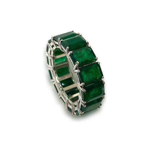 Emerald Emeraldcut Band 12.14 Cts