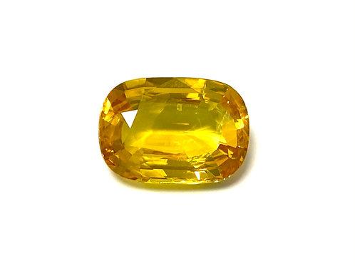 Yellow Sapphire Cushion 5.77 Cts