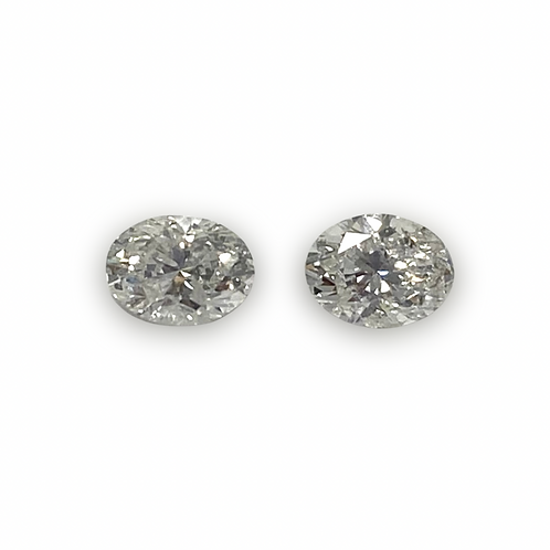 Diamond Oval Pair Approx 0.66 cts