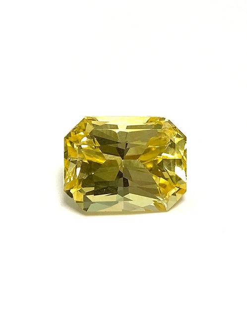 Yellow Sapphire Cushion-Asscher 5.08 cts - No Heat