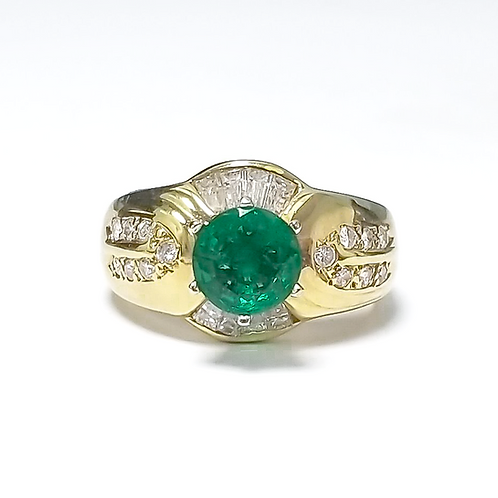 Emerald Round Ring 1.30 cts