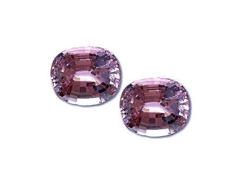 Kunzite Oval Pair 62.85 cts