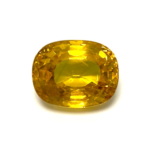 Yellow Sapphire Cushion 7.84 Cts