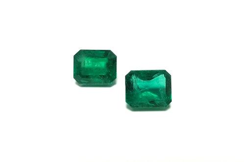 Emerald Emeraldcut Pair 8.12 cts