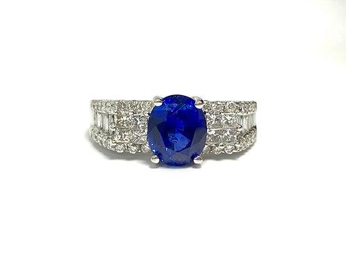 Ceylon Sapphire Oval Ring 2.65 cts