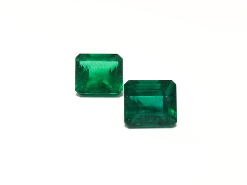 Emerald Emeraldcut Pair 14.28 cts
