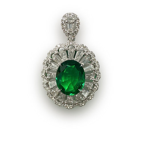Emerald Oval Pendant 1.78 cts