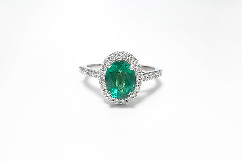 Emerald Oval Ring 1.15 cts