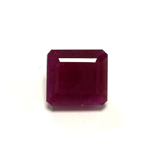 No Heat African Ruby Octagon 7.77 Cts