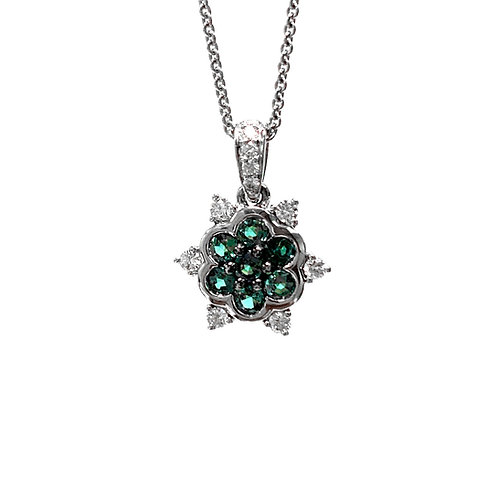 Alexandrite and Diamond Pendant 0.34 cts