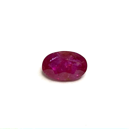 No Heat Burma Ruby Oval 0.90 Cts