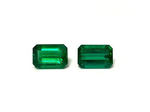 Emerald Emeraldcut Pair 14.03 cts