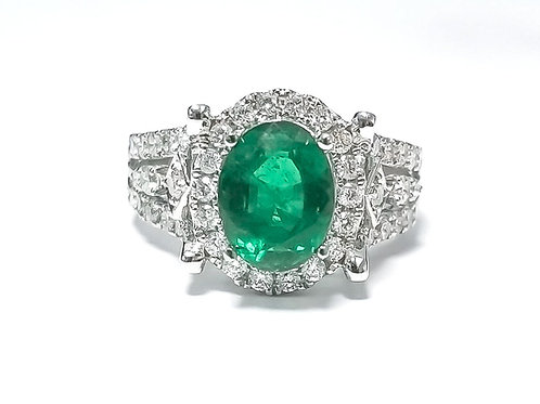 Emerald Oval Ring