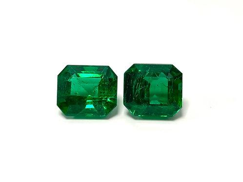 Emerald Emeraldcut Pair 9.31 cts