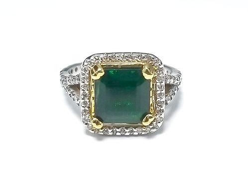Emerald Emeraldcut Ring 2.88 cts