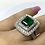 Thumbnail: Emerald Emeraldcut Ring 3.20 cts