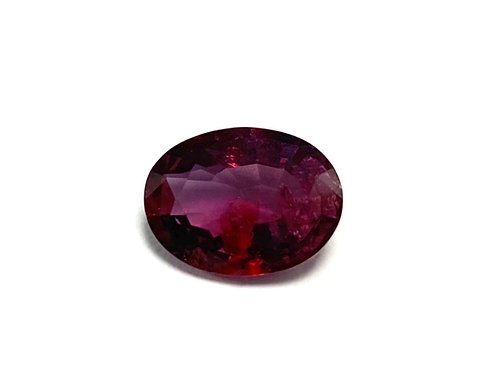 Red Sapphire 3.24 CT Unheated